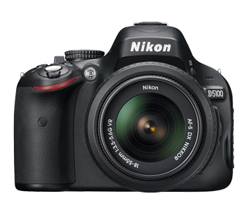 Nikon D5100 16.2MP CMOS Digital SLR Camera (lensa)