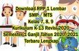 RPP 1 Lembar SMP Terlengkap, Kelas 7, 8, dan 9 Revisi 2020