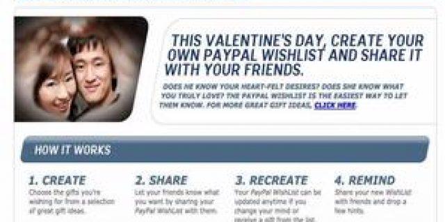 Ingin Kado Valentine Istimewa? Pakai Aja WishListPayPal